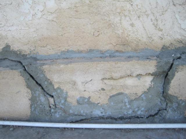 Los Angeles home inspection - Cracked foundation